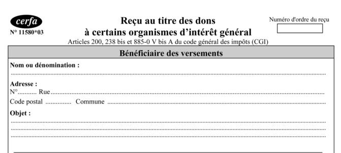 Nouveau contrôle sur place des reçus fiscaux de dons de votre association