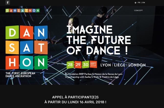 Paris le 9 avril 2018 : VerticalSoft lance sur sa plateforme l'événement de DANSATHON organisé par quatre institutions, la Fondation BNP Paribas, la Maison de la Danse de Lyon, le Sadler's Wells à Londres et le Théâtre de Liège.